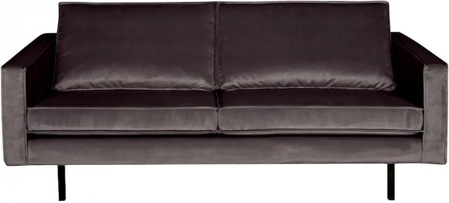 Canapea gri antracit din catifea pentru 2,5 persoane Rodeo Short