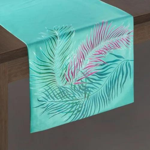 Traversa masa Alba Velvet Verde Mint, 35 x 140 cm