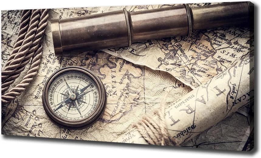 Print pe pânză Compass harta lupei