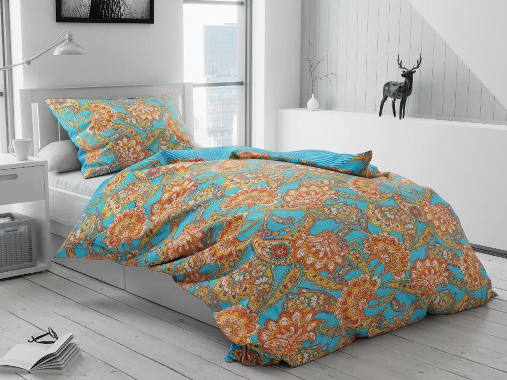 Lenjerie de pat din bumbac Stevia albastre