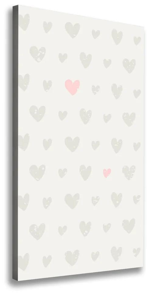 Tablou pe pânză canvas Inimi de fundal