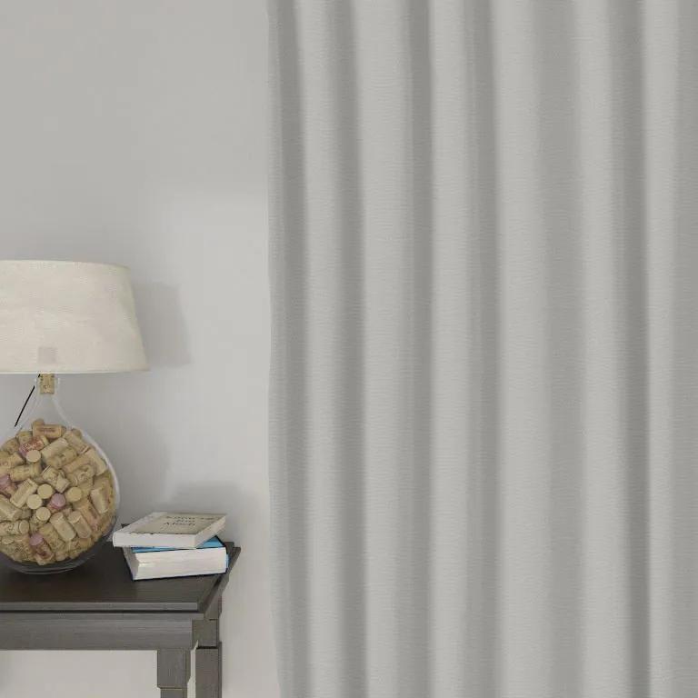 Goldea draperie decorative loneta - gri deschis 140x140 cm