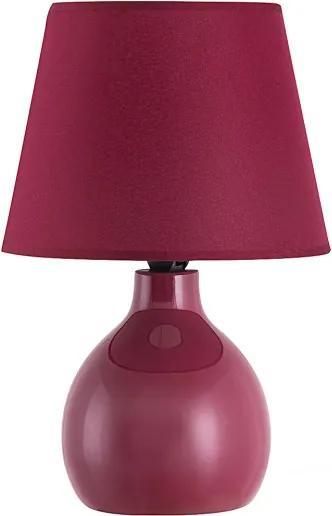 Rábalux 4478 Lampa de masa de noapte Ingrid bordo ceramică E14 1X MAX 40W IP20