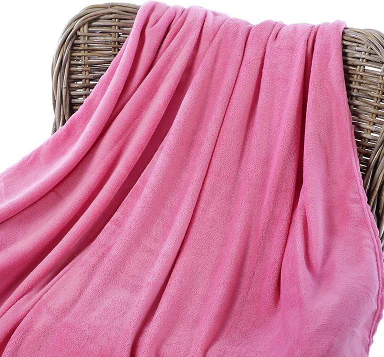 Goldea pătură din microfibră de calitate - roz 150 x 200 cm