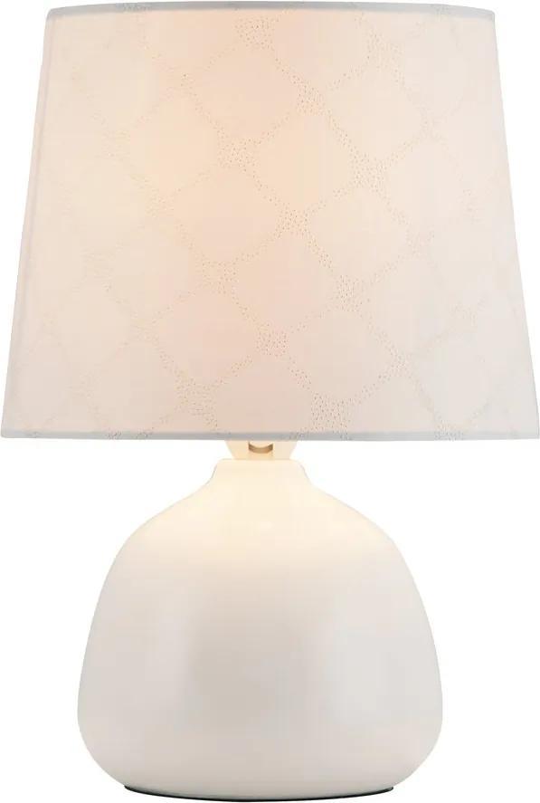 Rábalux 4379 Lampa de masa de noapte alb alb E14 1X MAX 40W 26 x 18 x 18 cm