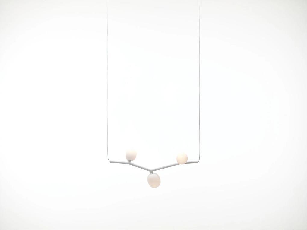 Ivy III - Lustră cu 3 globuri luminoase din sticlă