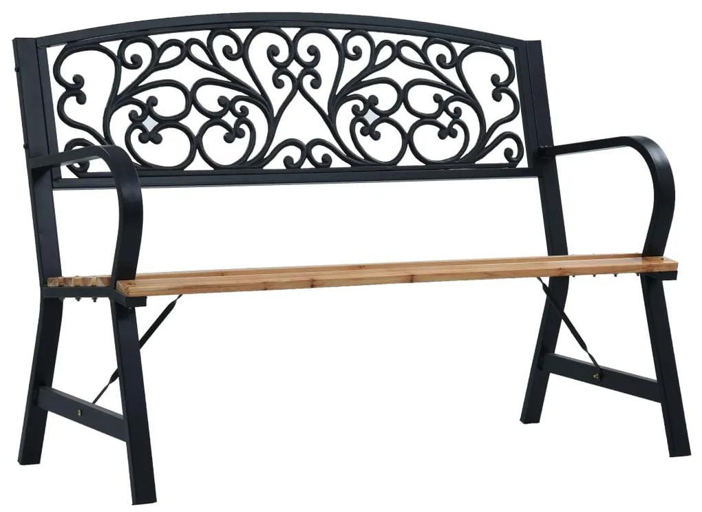 47940 vidaXL Bancă de grădină, 120 cm, lemn