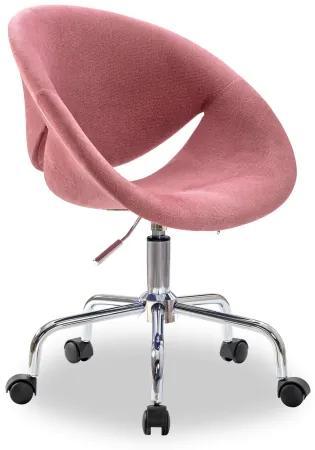Scaun de birou pentru copii, tapitat cu stofa Relax Rose, l61xA54xH88-95 cm