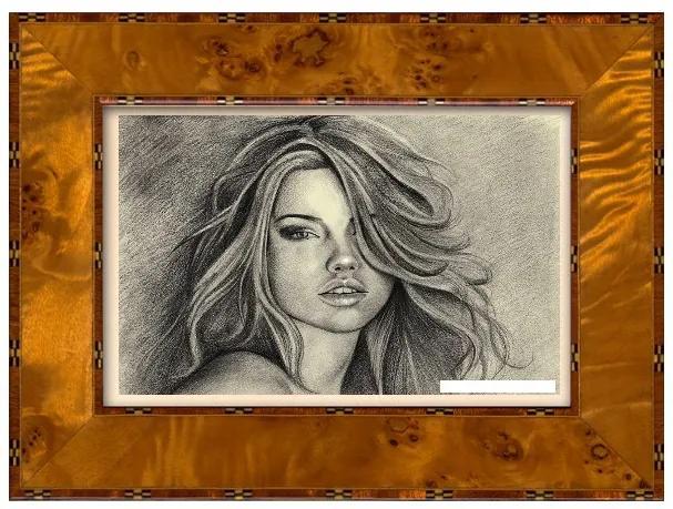 Rama foto Antiqua 230 Pioppo Giallo  10x15 cm