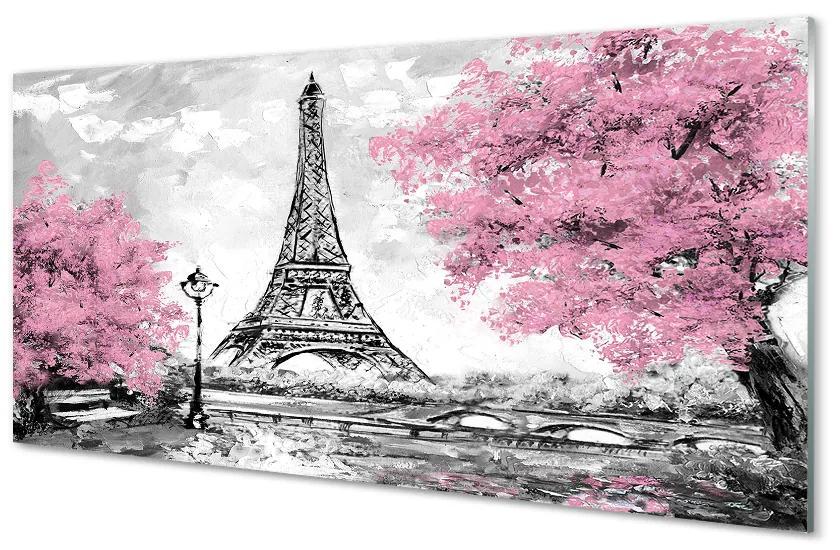 Tablouri acrilice Tablouri acrilice copac primăvară Paris