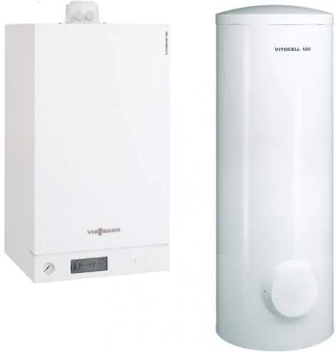 Centrala Vitodens 100-W 35 Boiler 300 solar B1HC405
