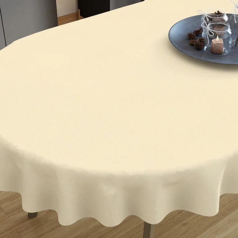 Goldea față de masă decorativă  loneta - cream - ovale 40 x 80 cm