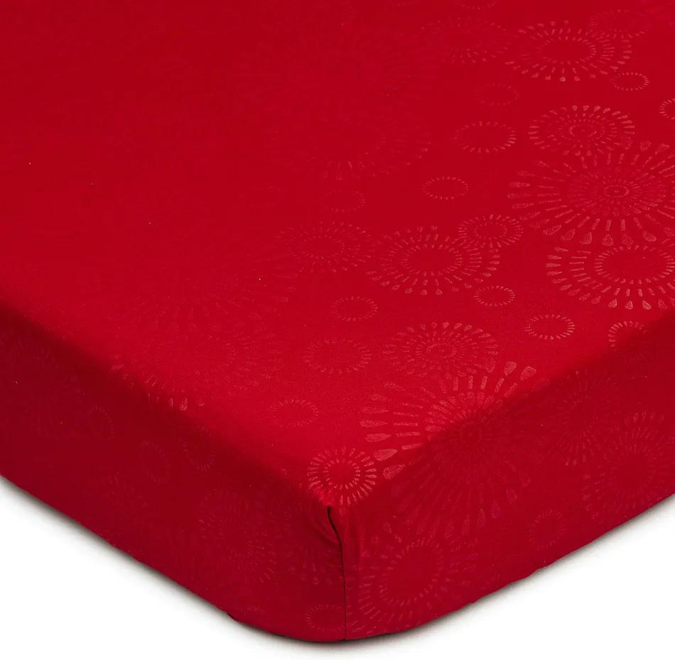 Cearșaf Elisa, microfibre, roșu, 90 x 200 cm, 90 x 200 cm