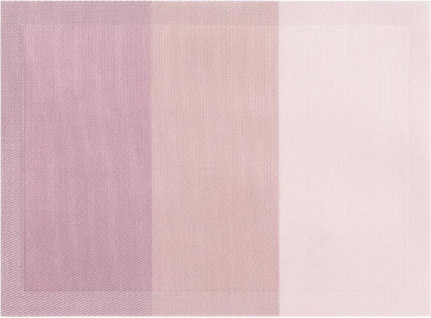 Suport pentru farfurie Tiseco Home Studio Jacquard, 45 x 33 cm, roz mov