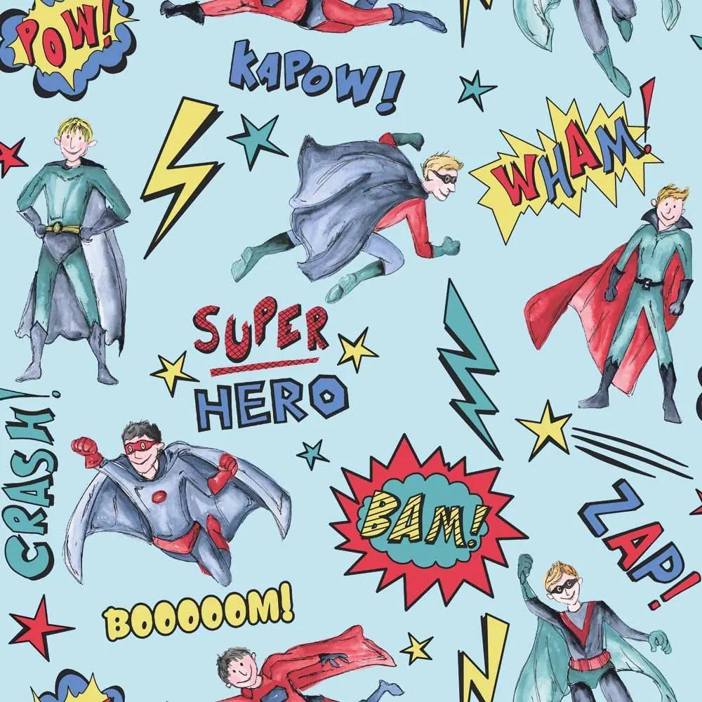 Arthouse Tapet - Superhero Superhero Blue
