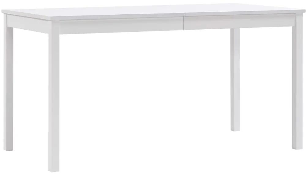283399 vidaXL Masă de bucătărie, alb, 140 x 70 x 73 cm, lemn de pin