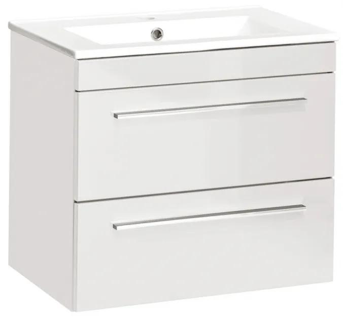 Masca cu Lavoar  Twinkle White Alb, 60 cm, 39 cm, 52 cm, Lavoar cu Masca  60 cm