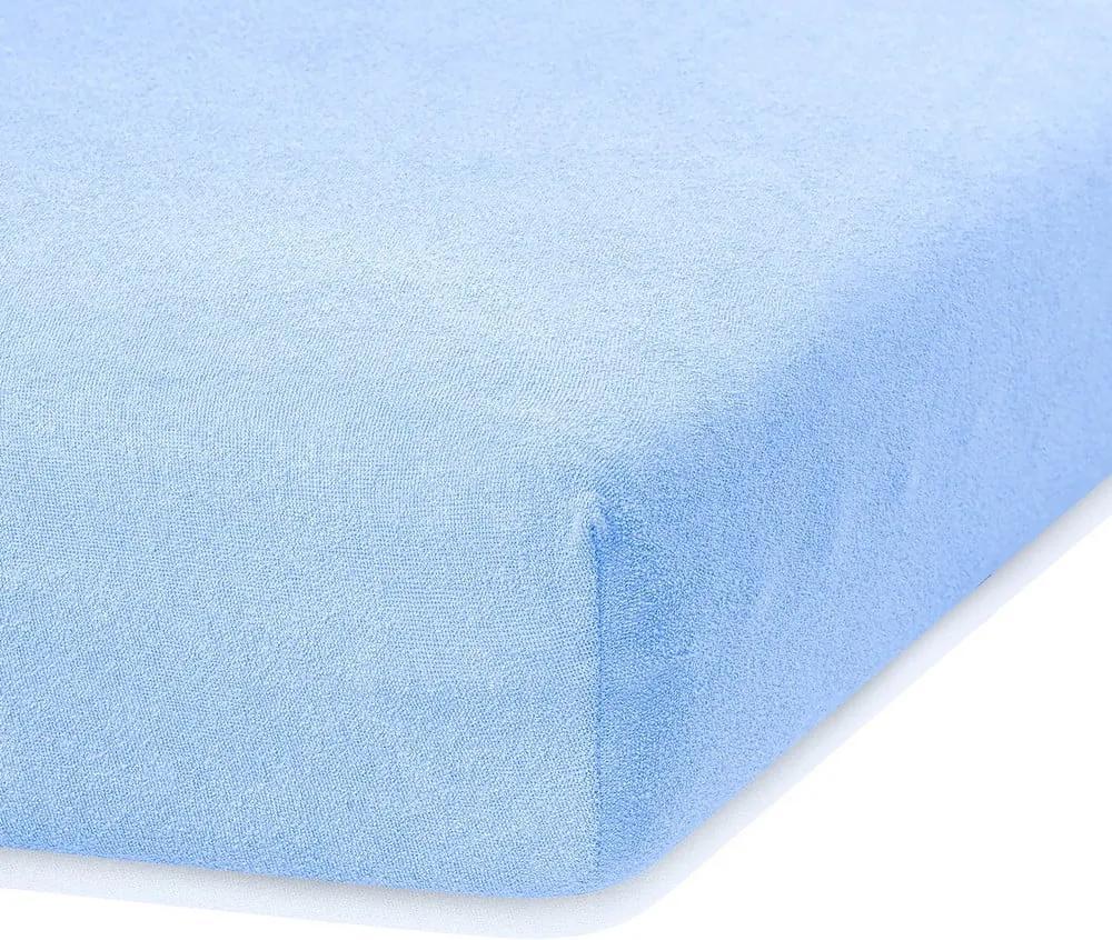 Cearceaf AmeliaHome Ruby, 200 x 160-180 cm, albastru deschis