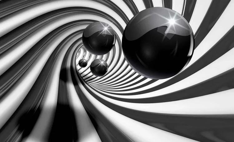 Abstract Swirl Modern Spheres Fototapet, (208 x 146 cm)