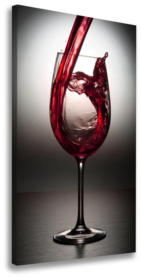Tablou pe pânză canvas Vin rosu