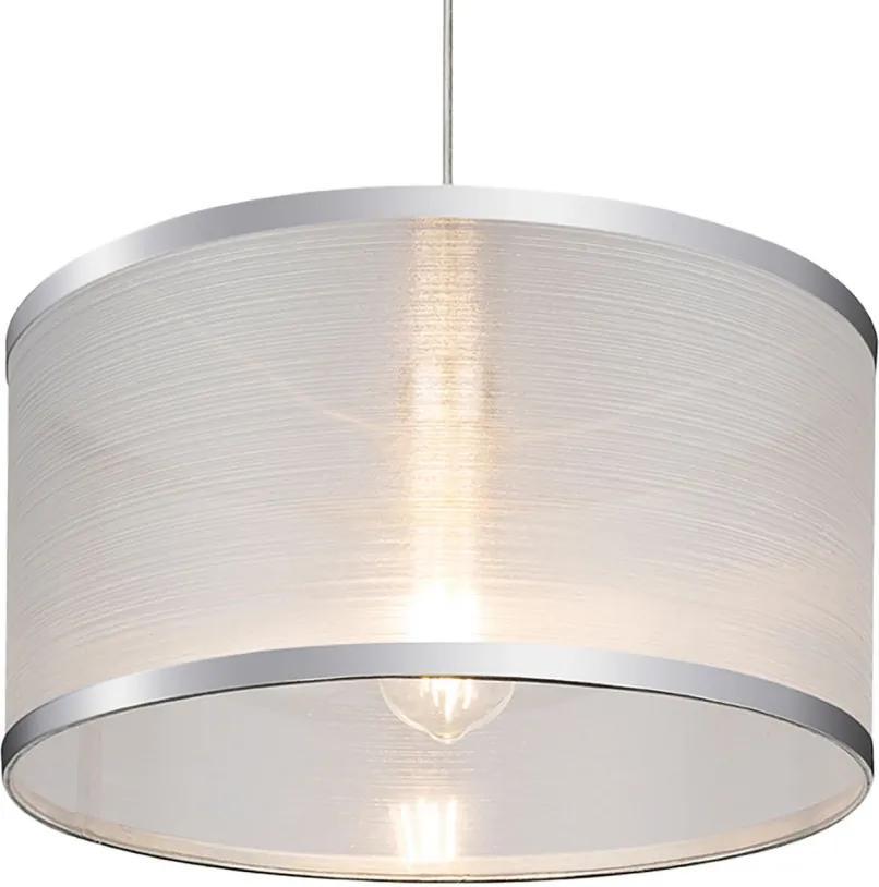 Lustra tip pendul Naxos I bumbac/fier, alb, 1 bec, diametru 40 cm, 230 V