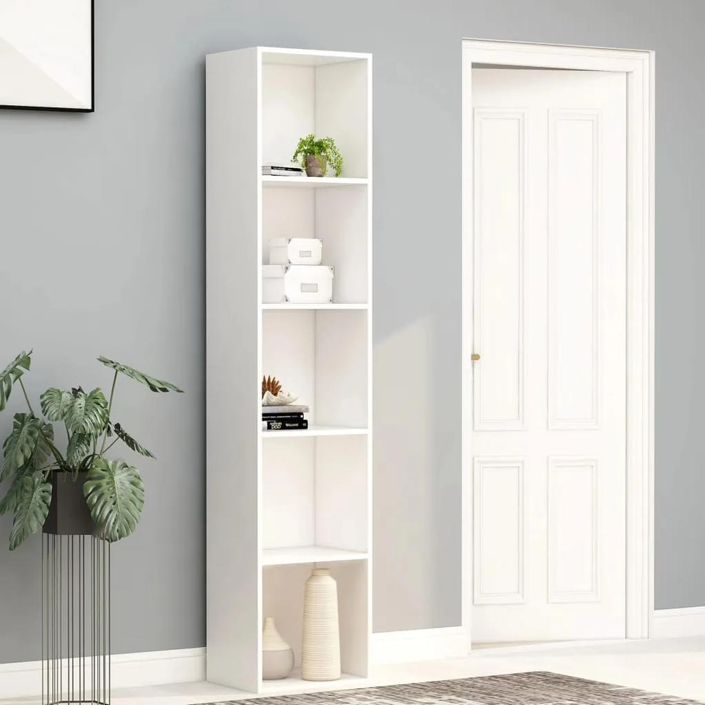 800954 vidaXL Bibliotecă, alb, 40 x 30 x 189 cm, PAL