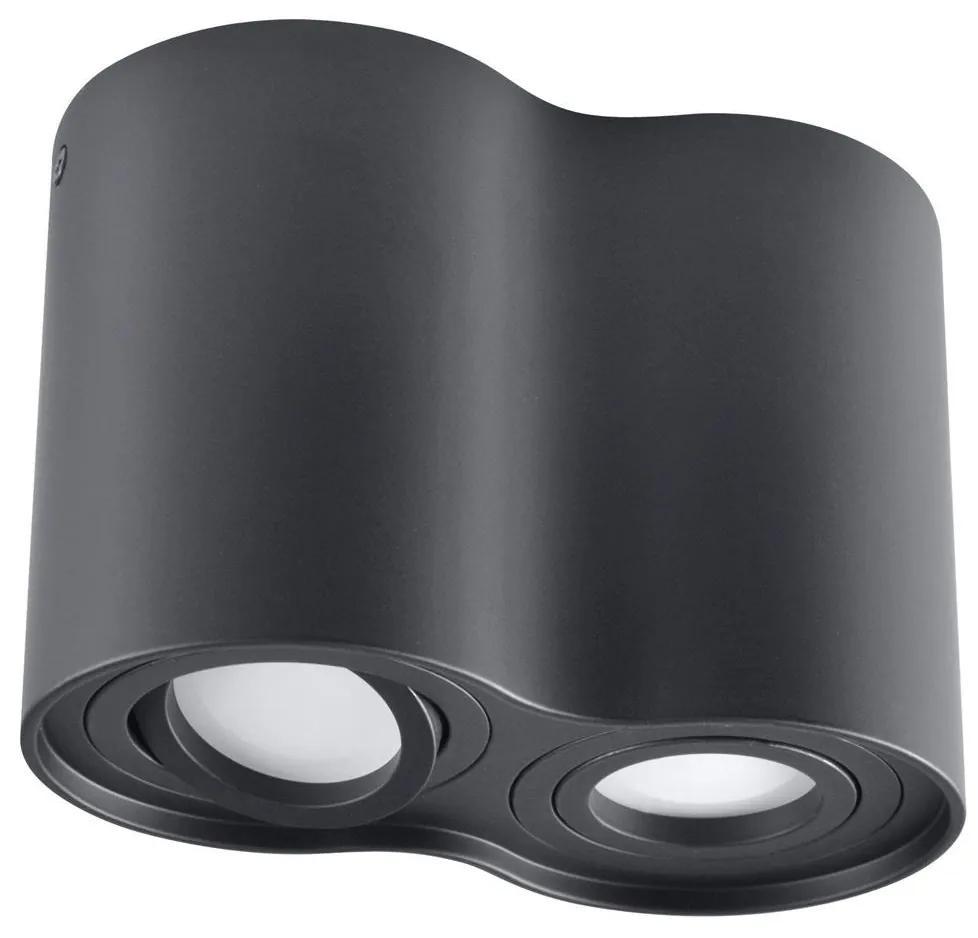 Lampă spot HADAR R2 2xGU10/10W/230V negru