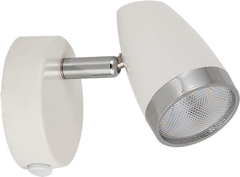 Rábalux Karen 6666 Aplice perete de citit alb crom LED 4W 80 x 90 mm
