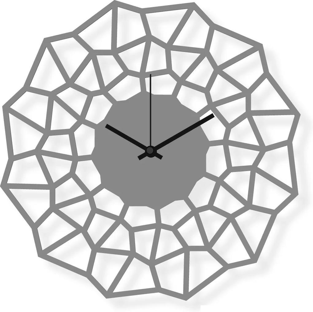 Ceas de perete de dimensiuni medii, din oțel inoxidabil 30x30 cm - Flake   DSGN
