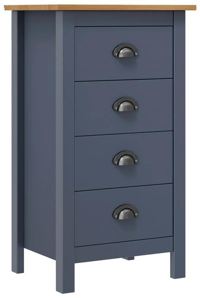 288913 vidaXL Servantă Hill Range, gri, 46 x 35 x 80 cm, lemn masiv de pin