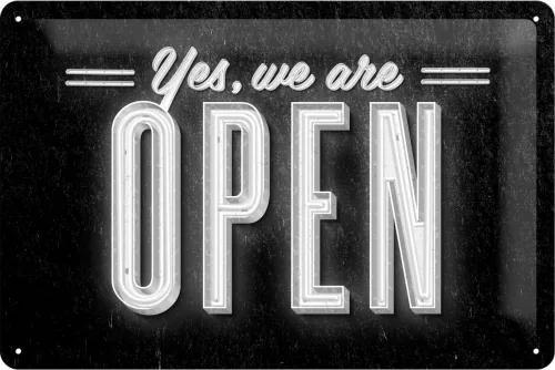 Placă metalică - We Are Open
