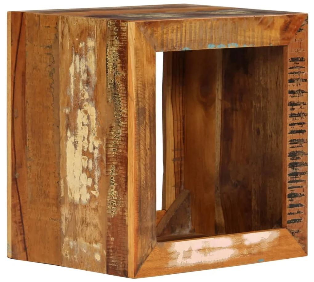 246270 vidaXL Scaun, 40x30x40 cm, lemn masiv reciclat