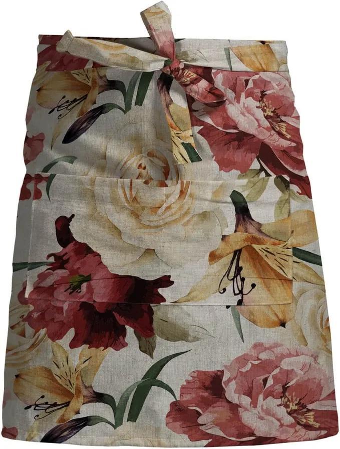 Șorț de bucătărie Linen Couture Delantal Spring Flowers