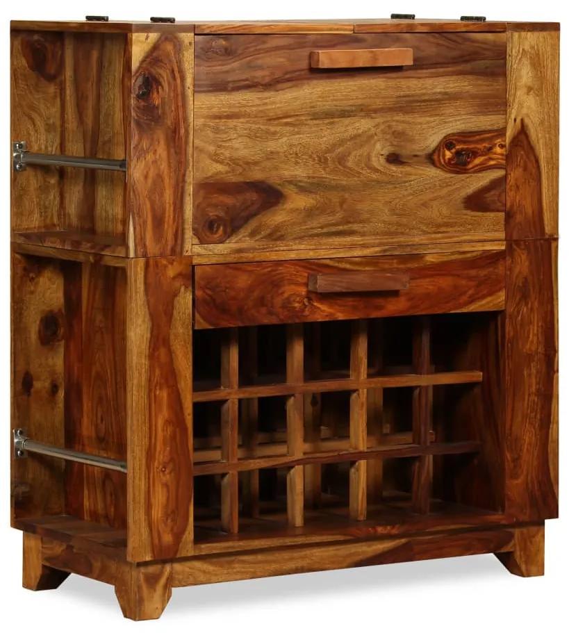 243948 vidaXL Dulap bar din lemn masiv de sheesham, 85 x 40 x 95 cm