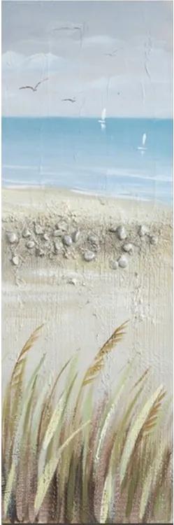 Tablou pictat manual Seasite set 120 x 40 cm