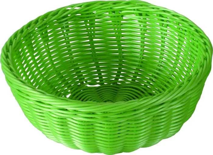 Cos rotund 24x9,8cm verde Sante