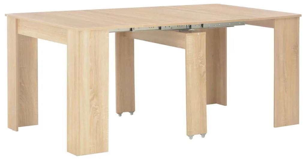 283730 vidaXL Masă de bucătărie extensibilă, stejar Sonoma, 175 x 90 x 75 cm