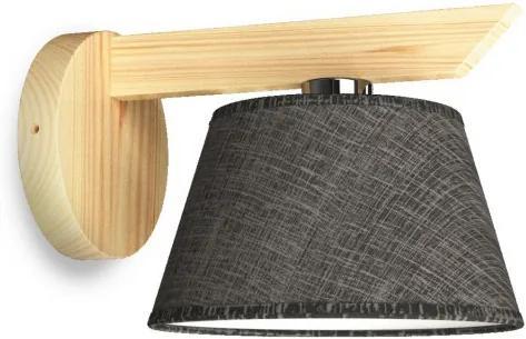 Aplica perete YOKE 1xE14/40W/230V natural lemn