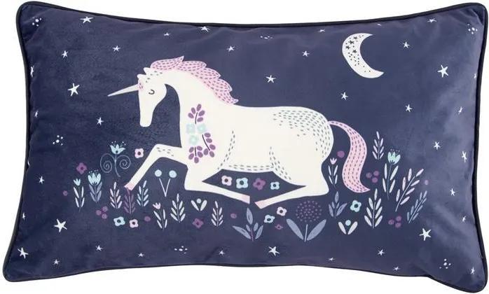 Pernă decorativă Starlight Unicorn, 50 x 30 cm