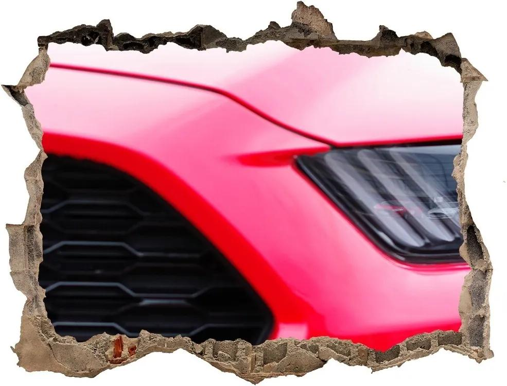 Autocolant autoadeziv gaură Mustang roșu