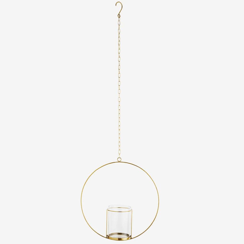 Suport metalic circular pentru plante - Auriu