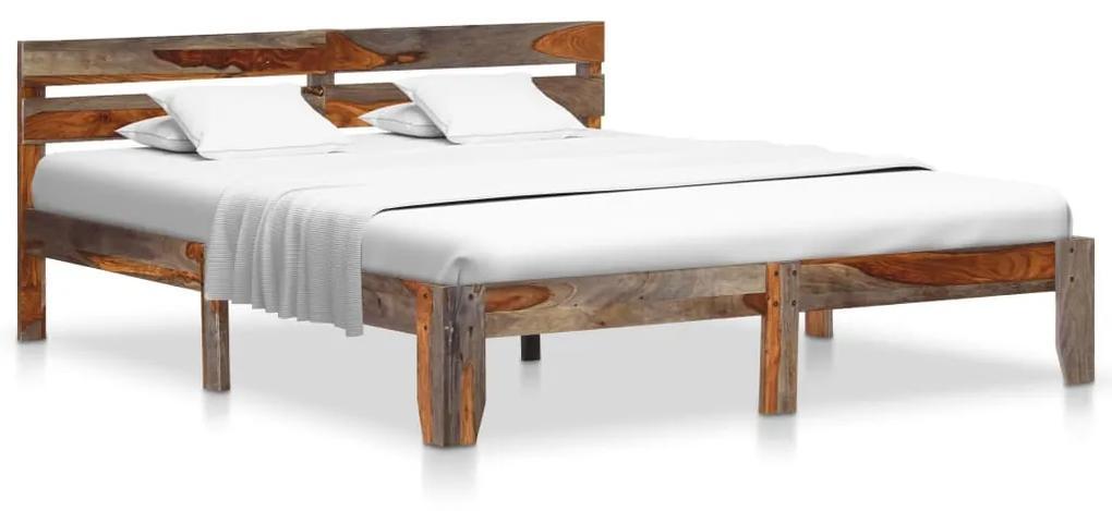 288413 vidaXL Cadru de pat, 180 x 200 cm, lemn masiv de sheesham
