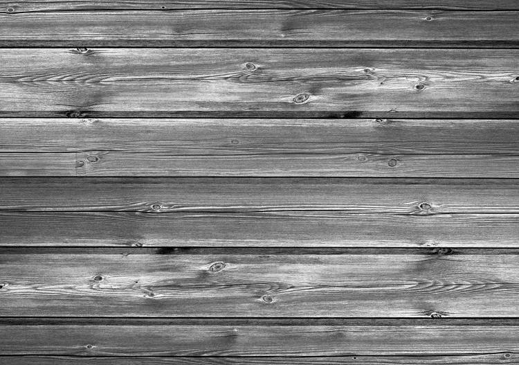 Pattern Grey Wooden Fototapet, (254 x 184 cm)