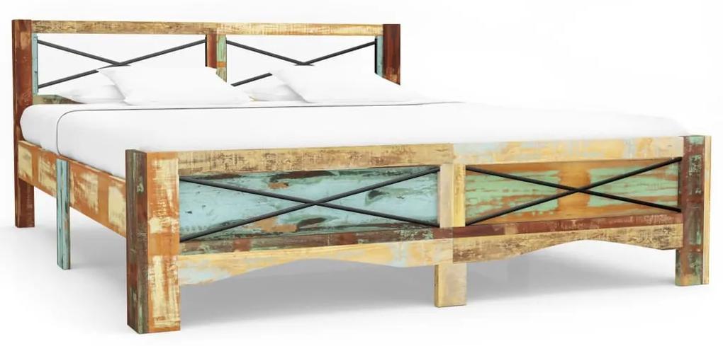 247668 vidaXL Cadru de pat, 180 x 200 cm, lemn masiv reciclat