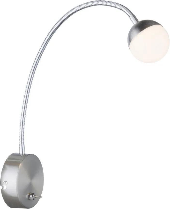 Globo 24134W Aplice perete de citit ROSLIN nichel metal LED - 1 x 5W 470lm 3000K IP20 A+
