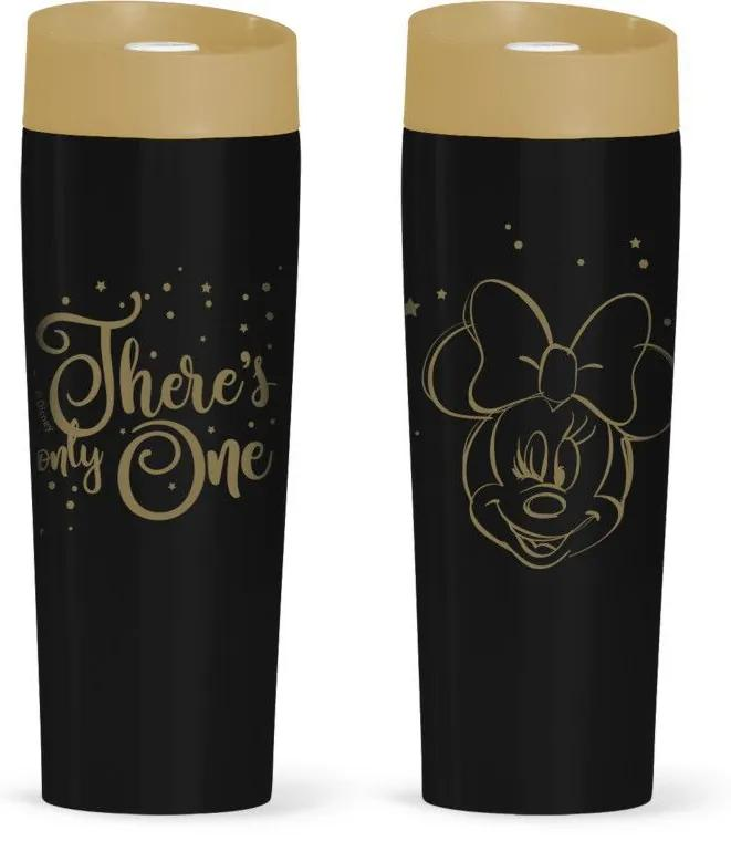 Cana termos Minnie Mouse gold 400ml