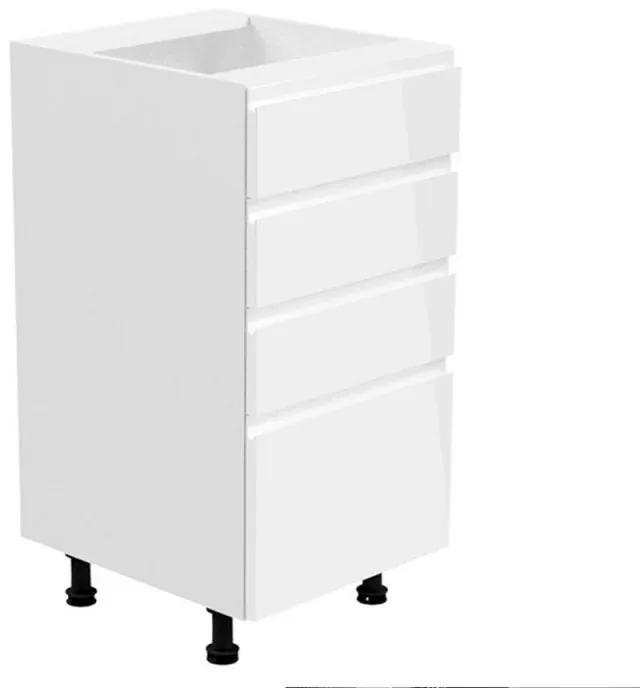 Dulap inferior alb/alb extra lucios AURORA D40S5