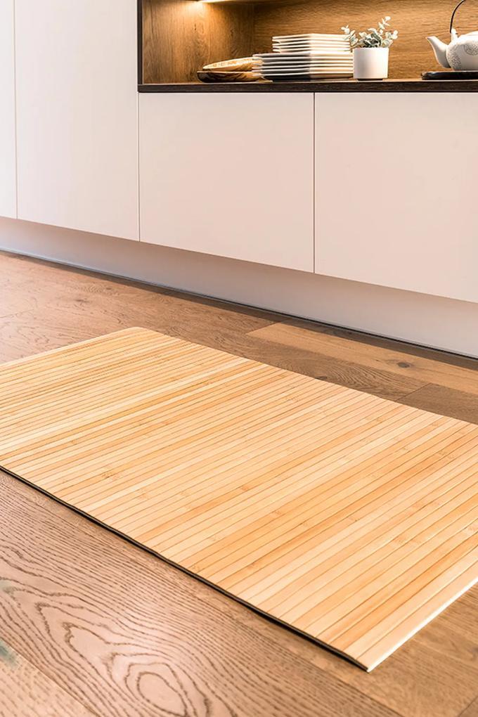 Covoras Lily S, din bambus maro 110x50 cm
