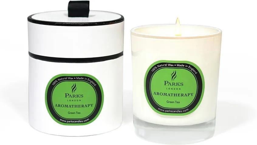 Lumânare parfumată Parks Candles London Aromatherapy, aromă de ceai verde, durată ardere 45 ore