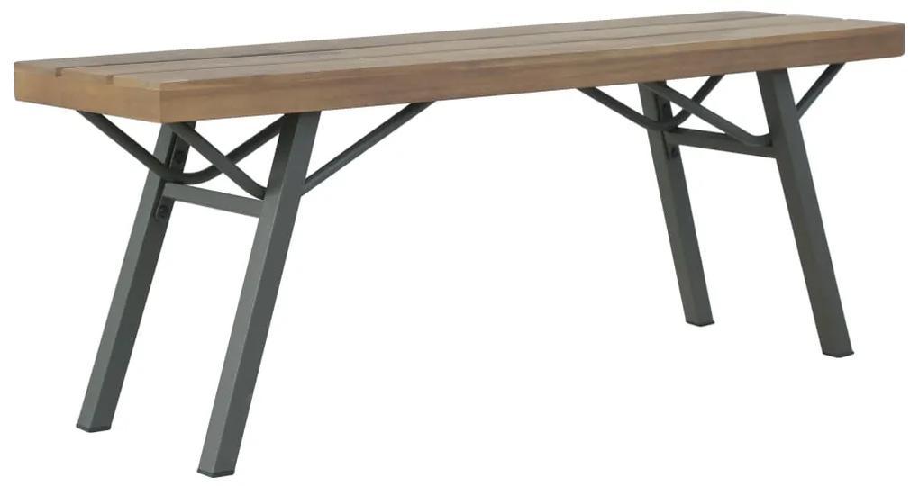 44252 vidaXL Bancă de grădină, 120 cm, lemn masiv de acacia